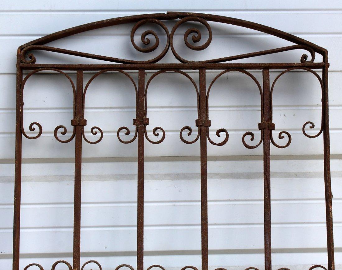 Arch top decorative iron panel - 2