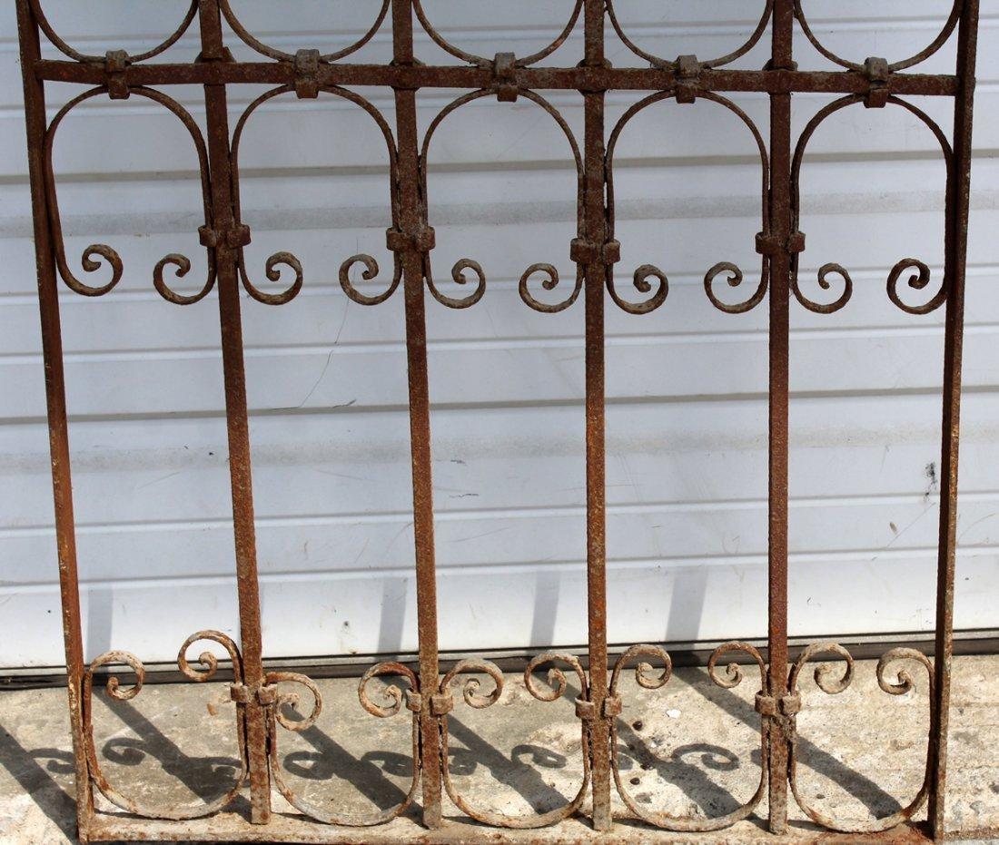 Arch top decorative iron panel - 3