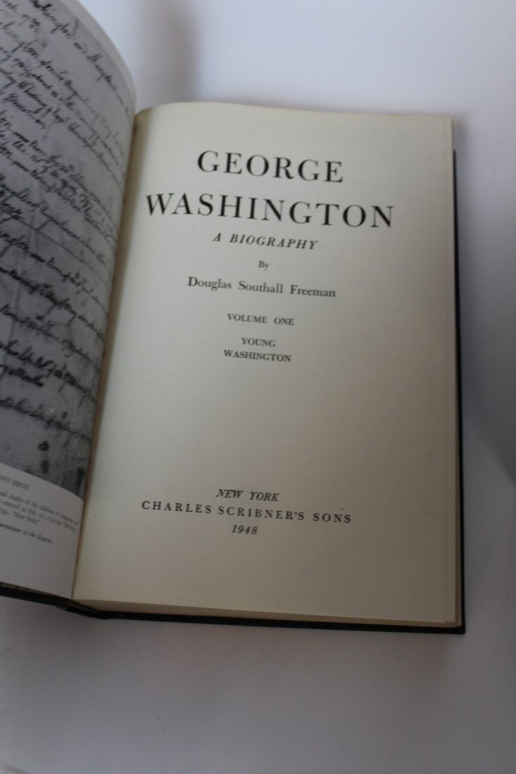 George Washington A Biography 5 volume book set - 3