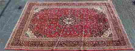 Persian Kashan 9.8 x 12.10 wool rug