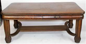 Antique American tiger oak partner's desk