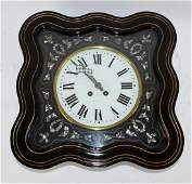 French wall clock with mother of pearl inlay