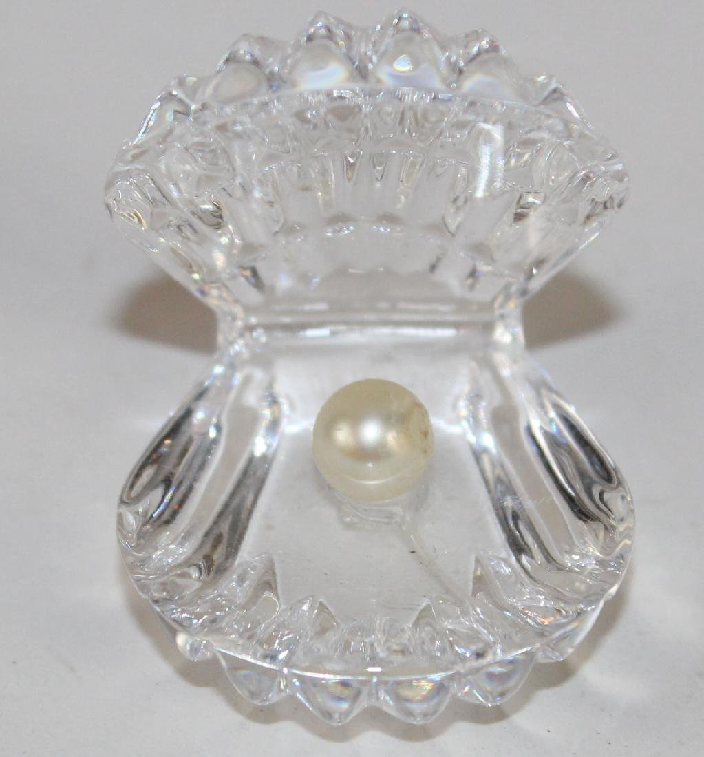 Waterford crystal oyster shell with pearl