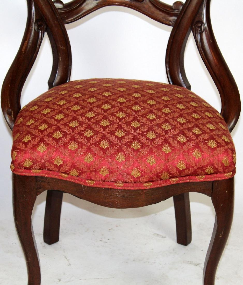 Pair of Victorian mahogany side chairs - 2