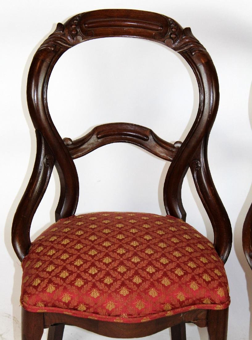 Pair of Victorian mahogany side chairs - 3