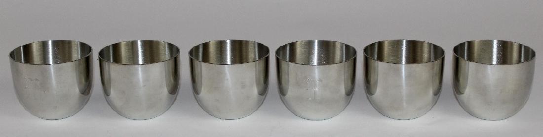Set of 6 Steiff pewter Jefferson Cups