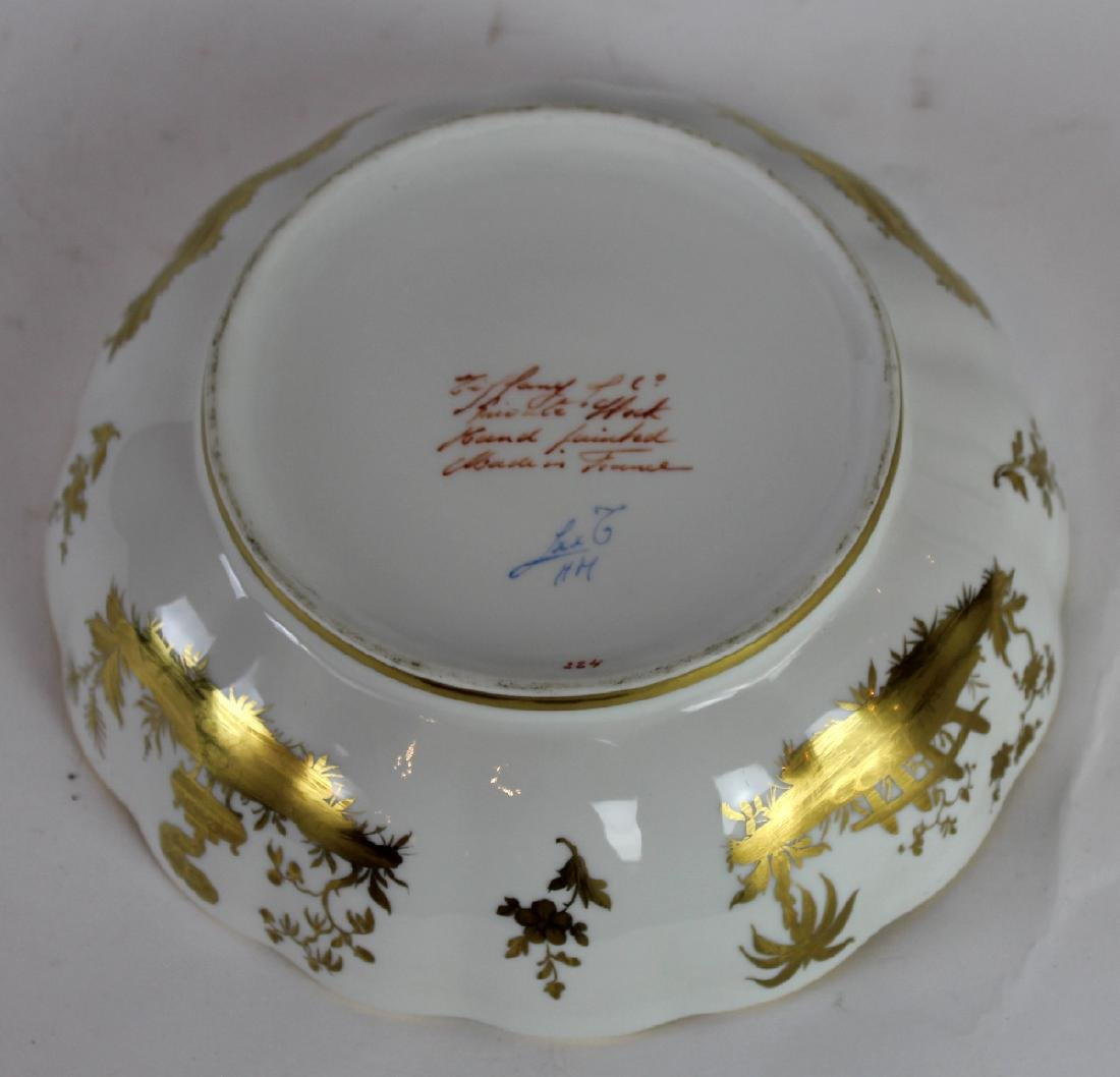 Tiffany & Co hand painted porcelain bowl - 4
