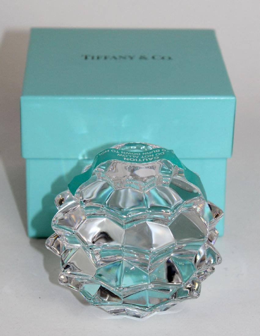Lot of 4 Tiffany & Co crystal candle holders - 4