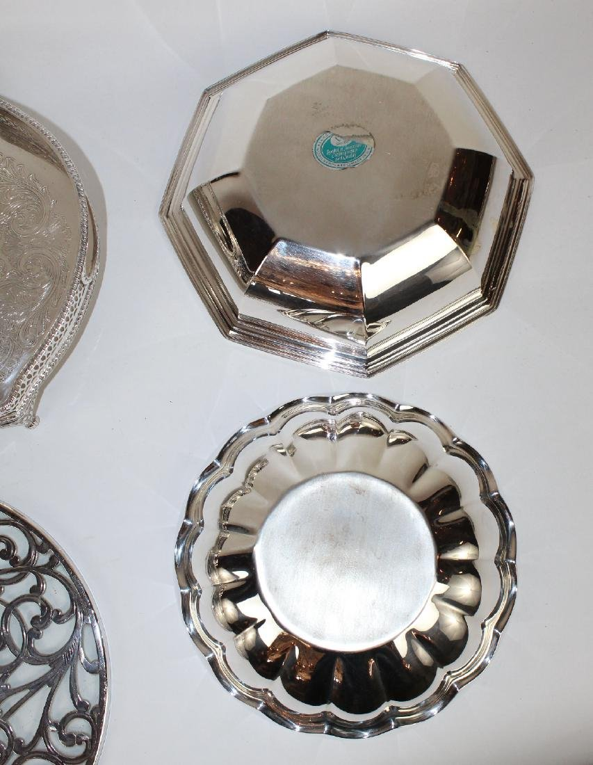 Grouping of silverplate serving pieces - 2