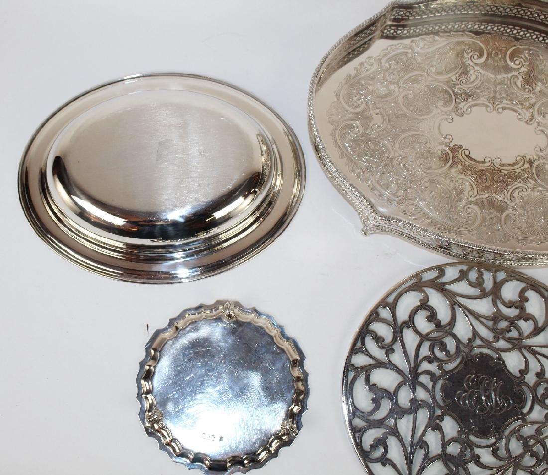 Grouping of silverplate serving pieces - 3