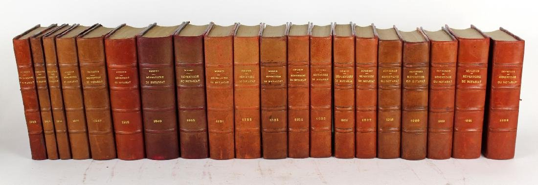 Lot of 20 French leather bound books