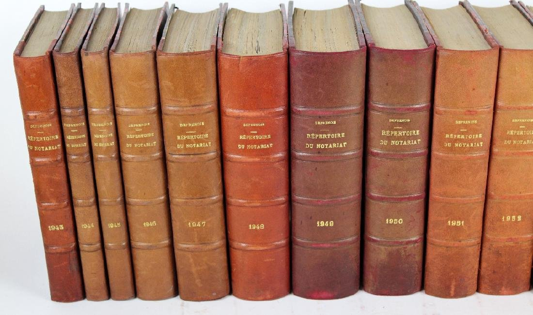 Lot of 20 French leather bound books - 2
