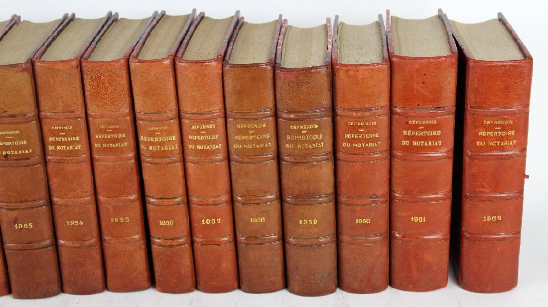 Lot of 20 French leather bound books - 3