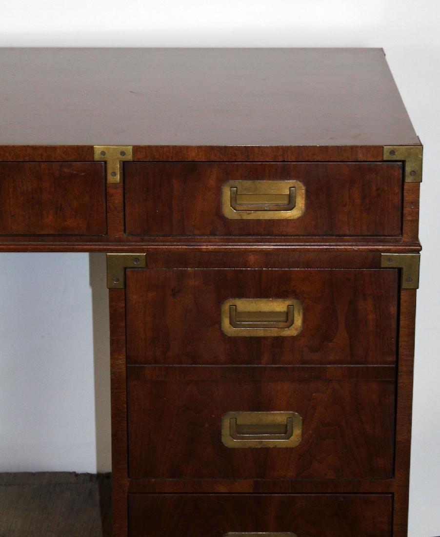 Vintage Campaign style desk by Henredon - 2
