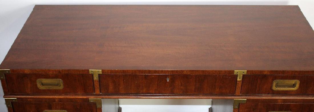 Vintage Campaign style desk by Henredon - 3