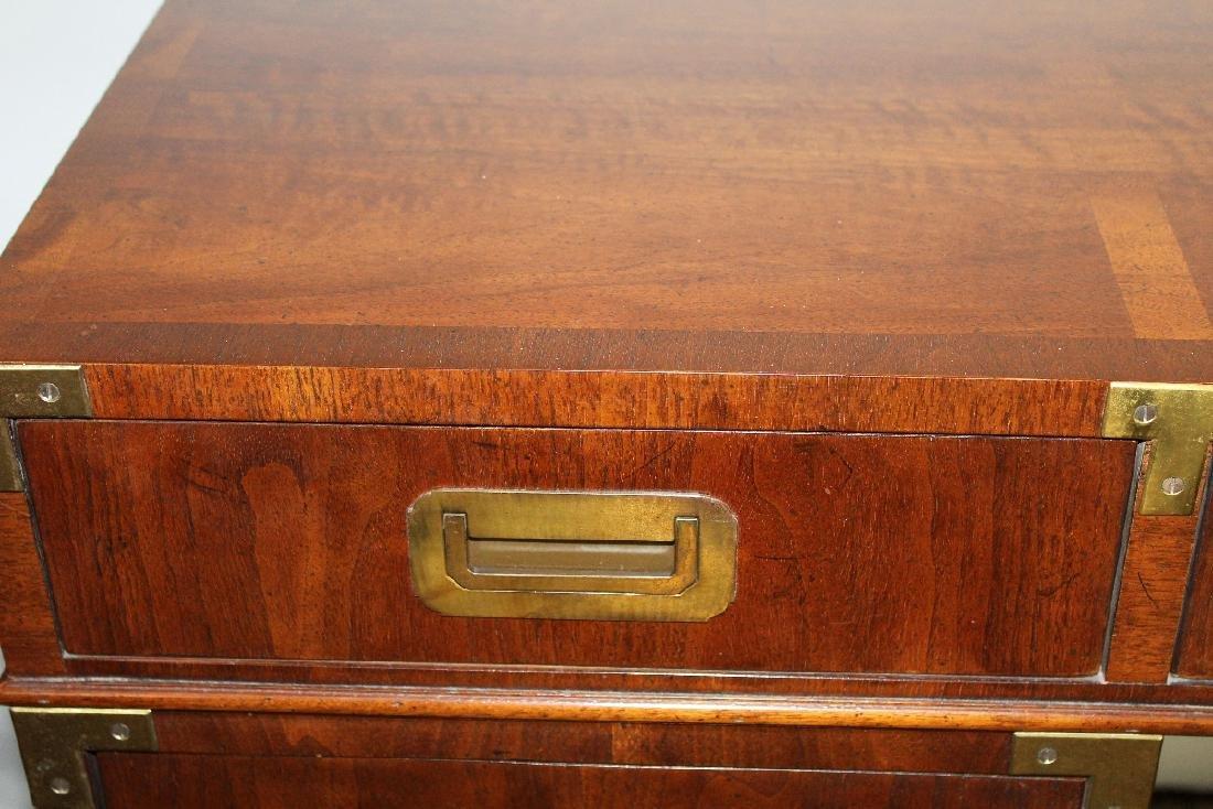 Vintage Campaign style desk by Henredon - 4