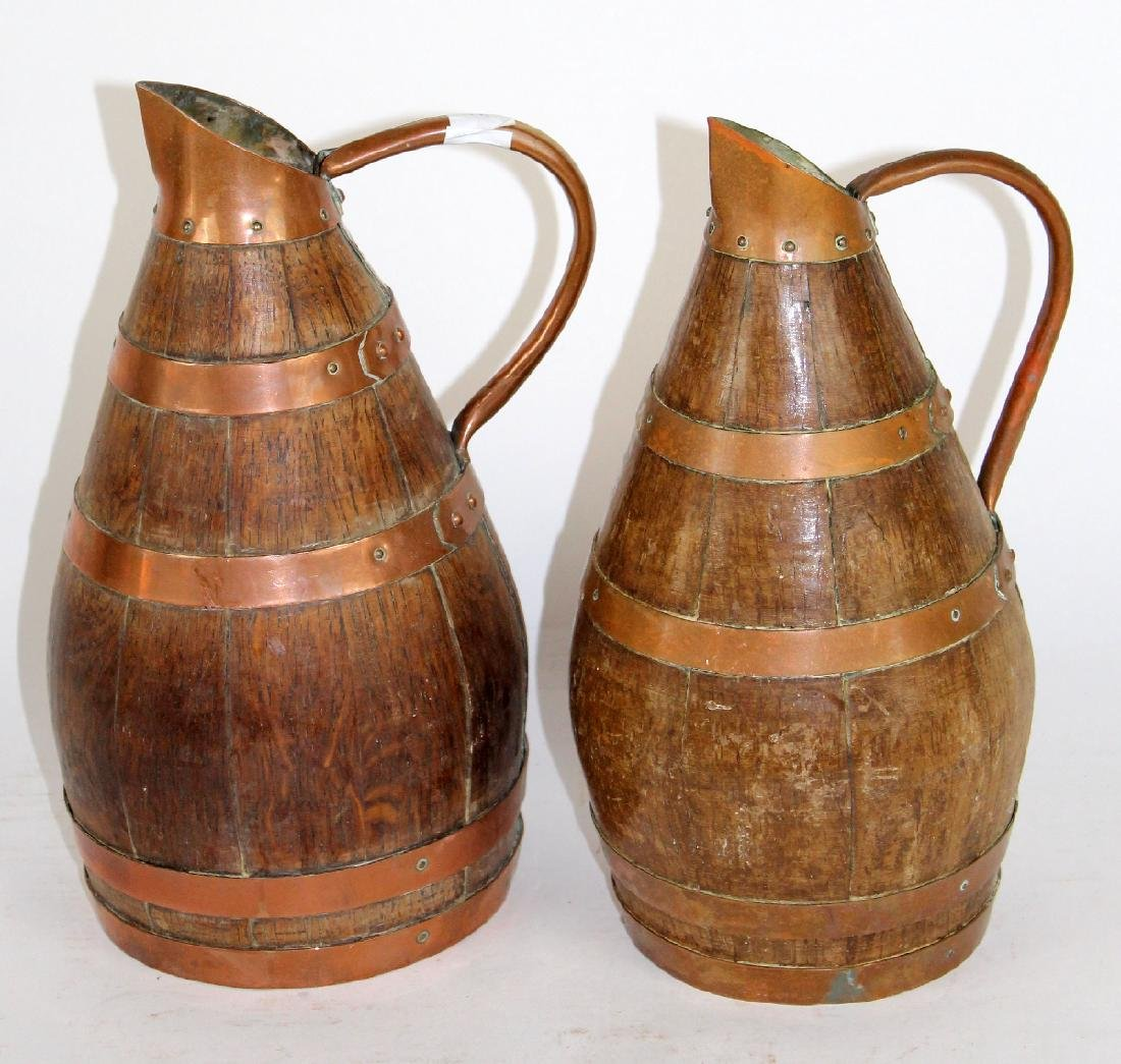 Lot of 2 French wine pitchers from Alsace