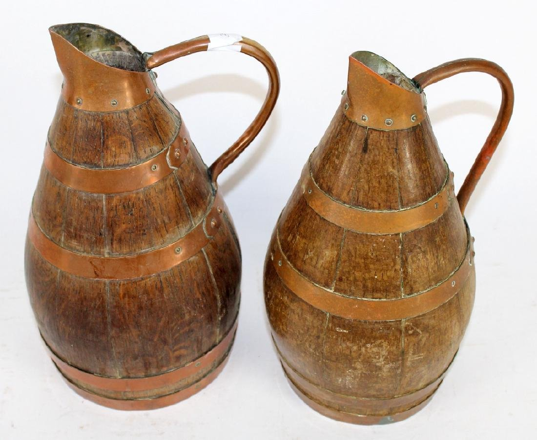 Lot of 2 French wine pitchers from Alsace - 2