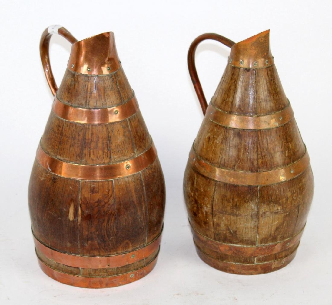 Lot of 2 French wine pitchers from Alsace - 3
