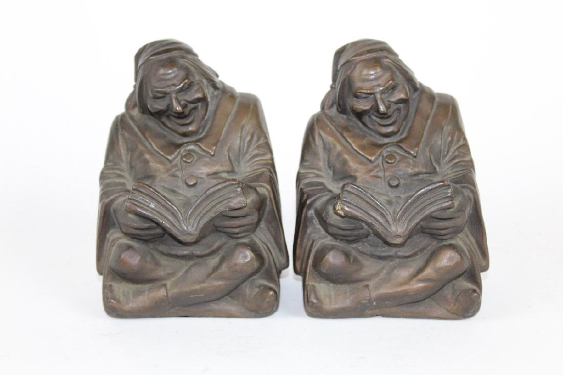 """Good Book"" Bronze Clad Bookends by Armor Bronze"