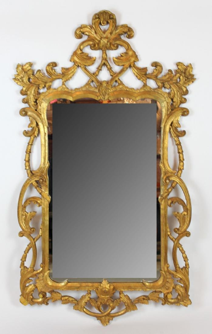 Italian Chippendale style gilt framed mirror