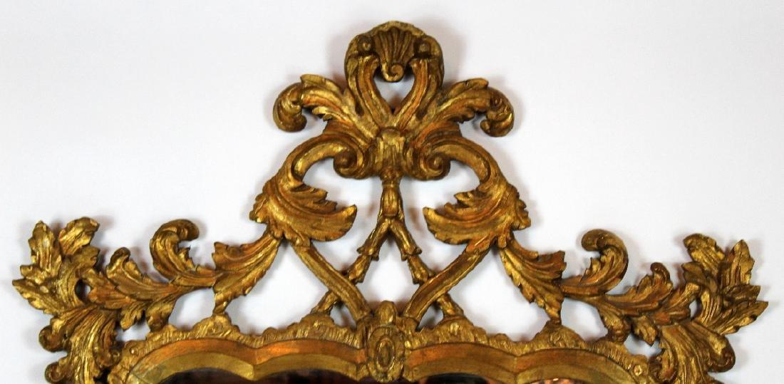 Italian Chippendale style gilt framed mirror - 2