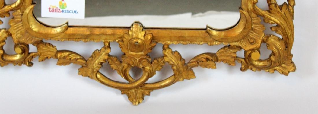 Italian Chippendale style gilt framed mirror - 3