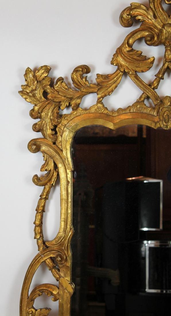 Italian Chippendale style gilt framed mirror - 4