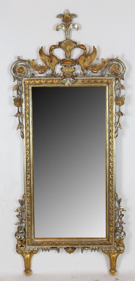 Empire style mirror with double gryphon crest