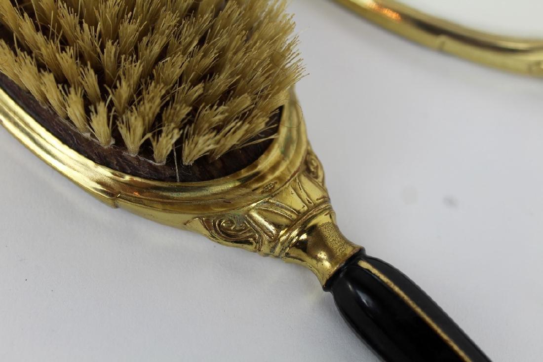 Art Deco hand mirror & brush - 4