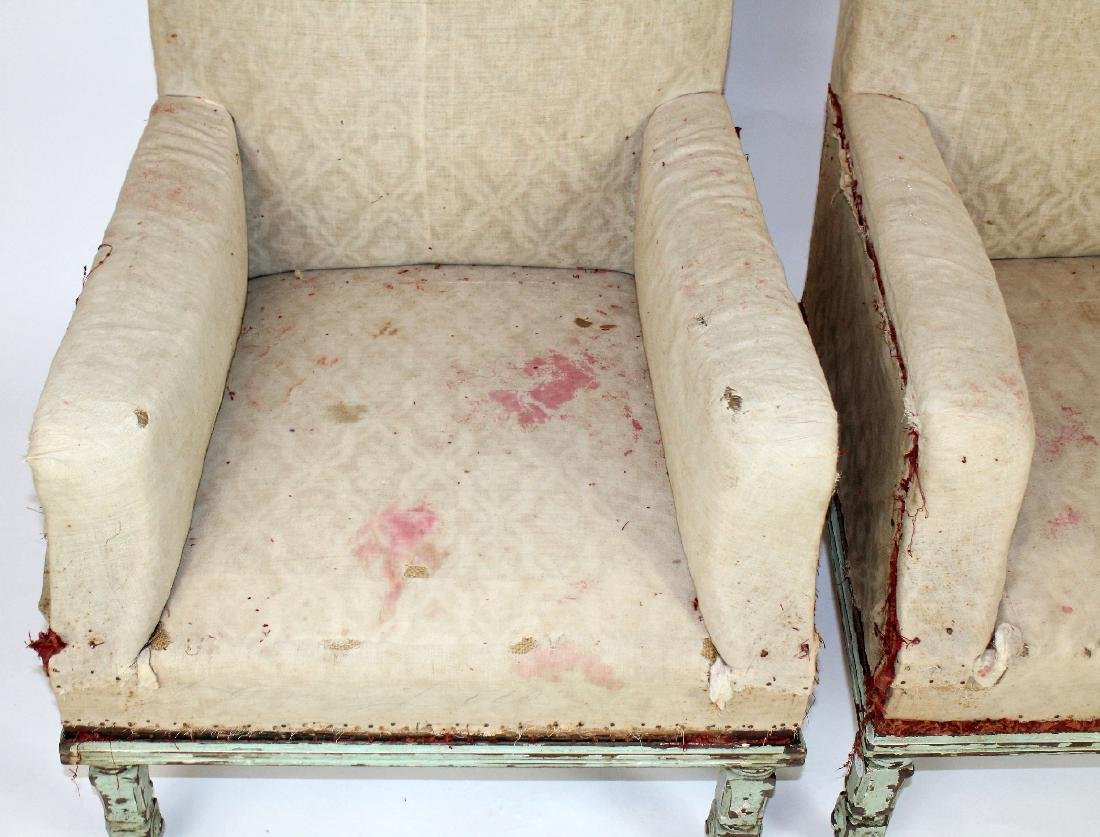 Pair of French armchairs covered in muslin. - 2