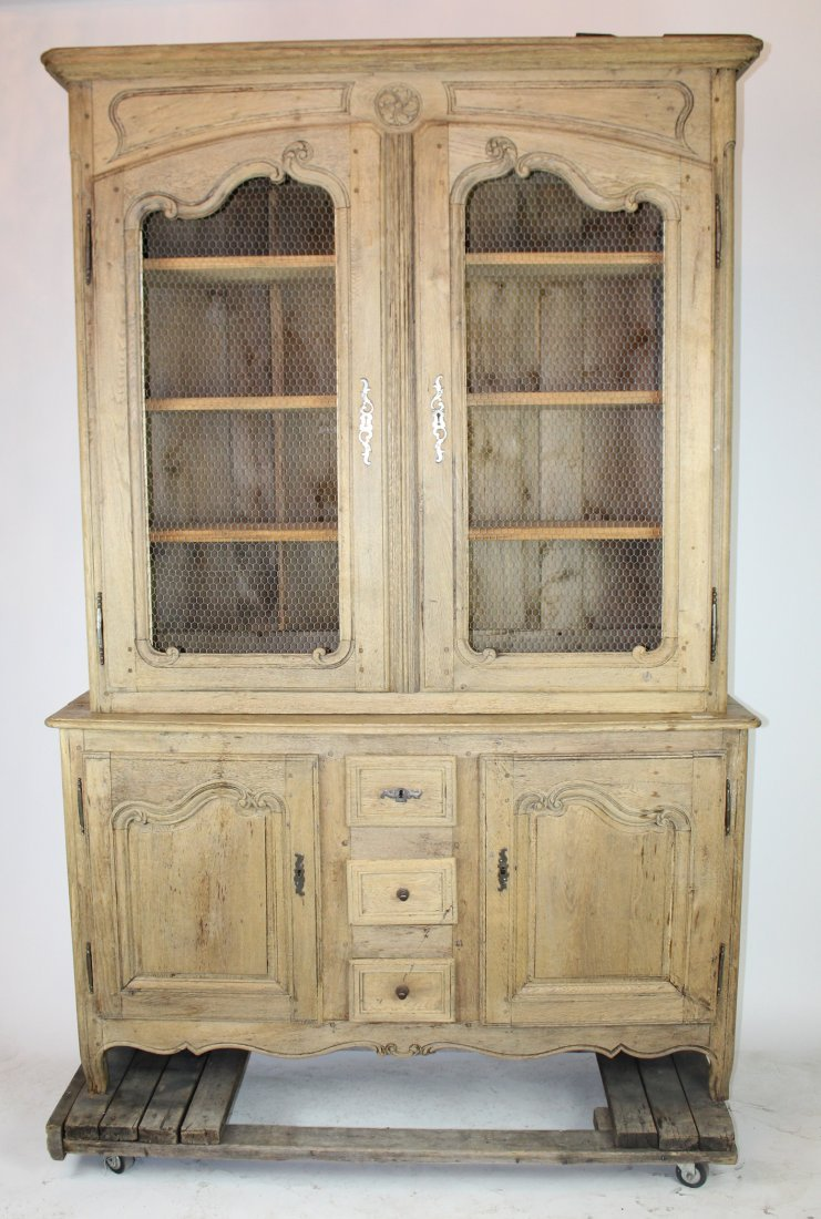 French Louis XV bleached oak bookcase