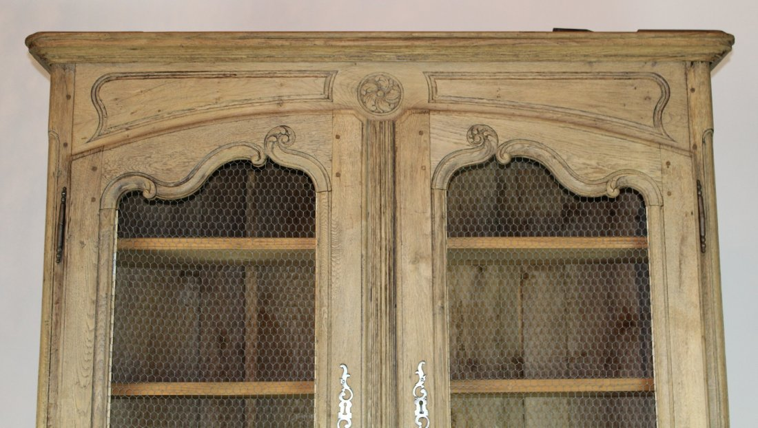 French Louis XV bleached oak bookcase - 2