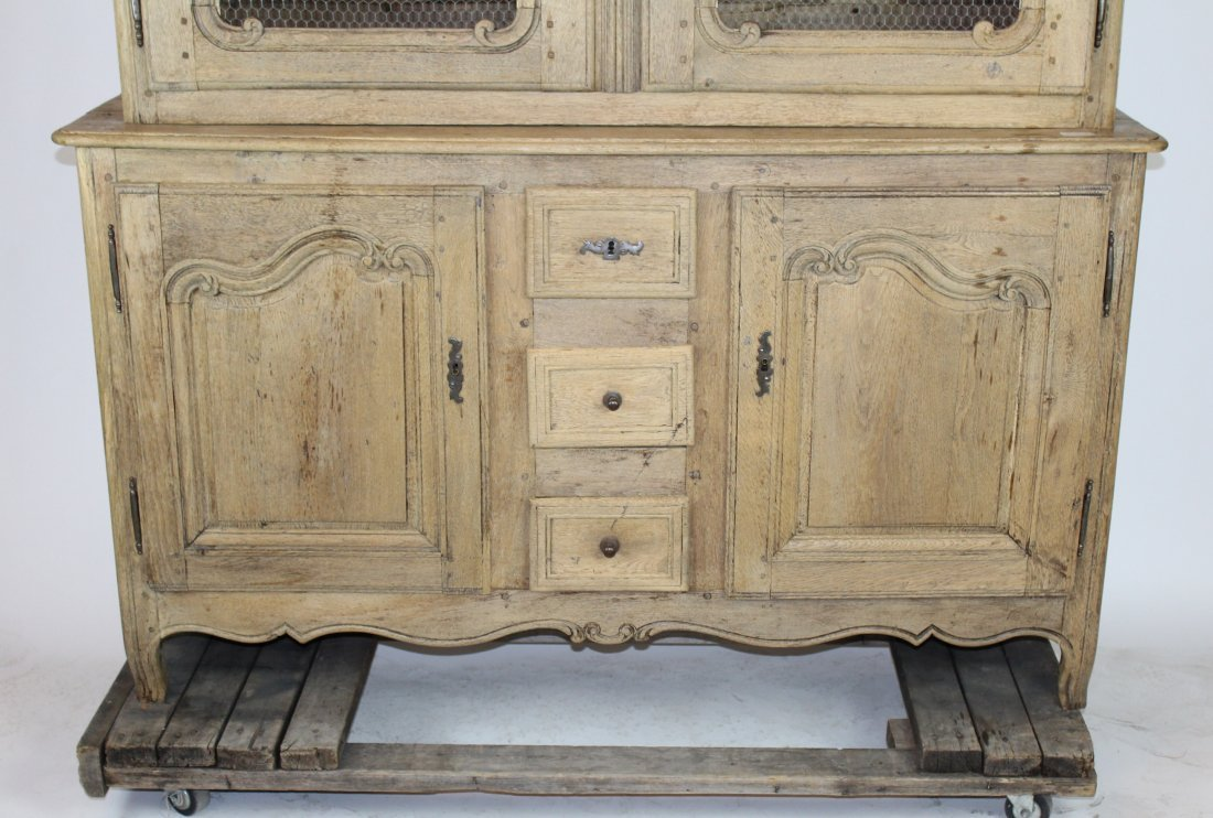 French Louis XV bleached oak bookcase - 3