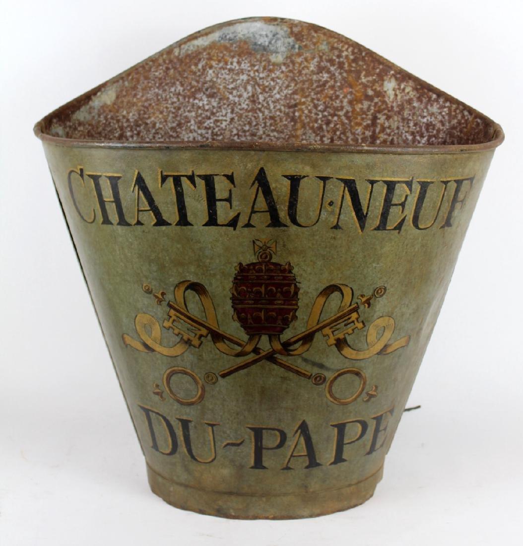 Vintage French metal grape hotte
