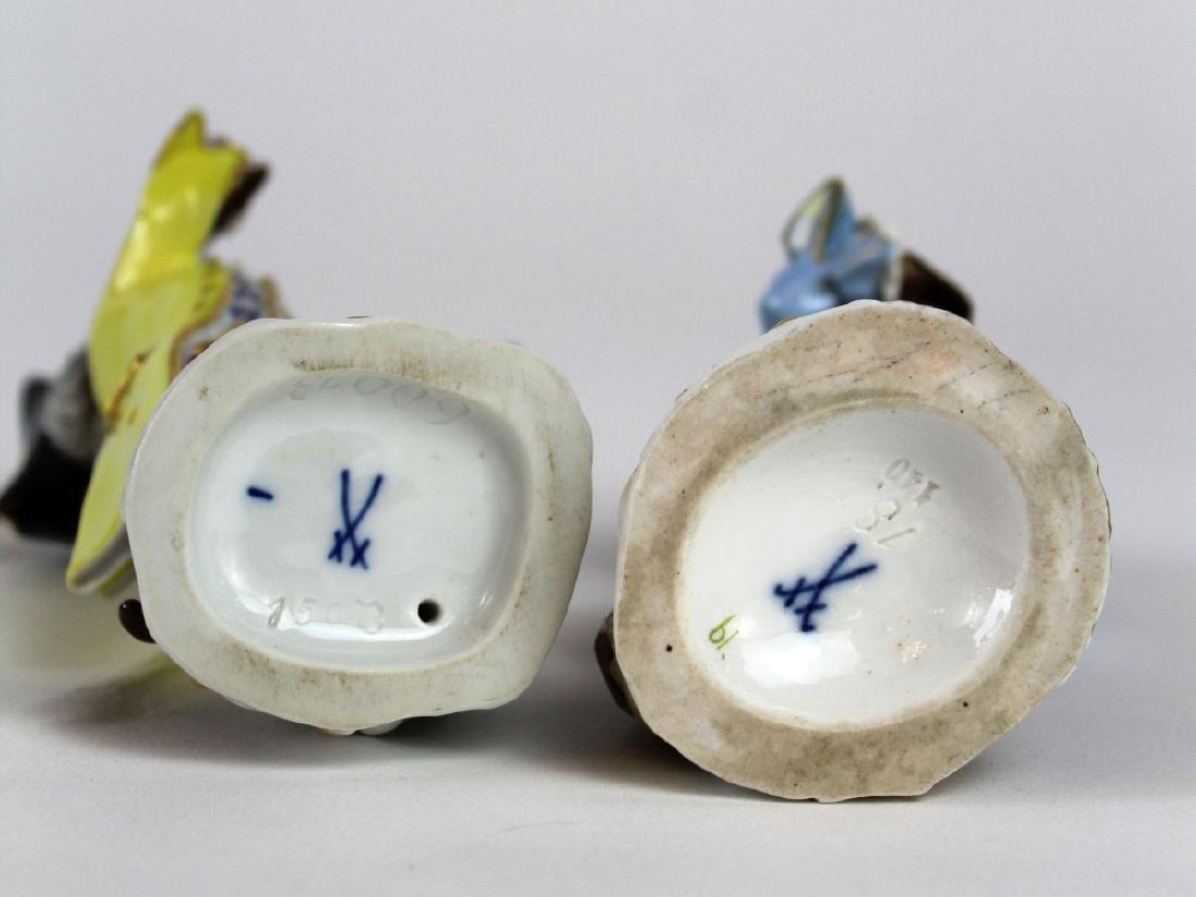 Lot of 2 Meissen porcelain monkey musician figurines - 5