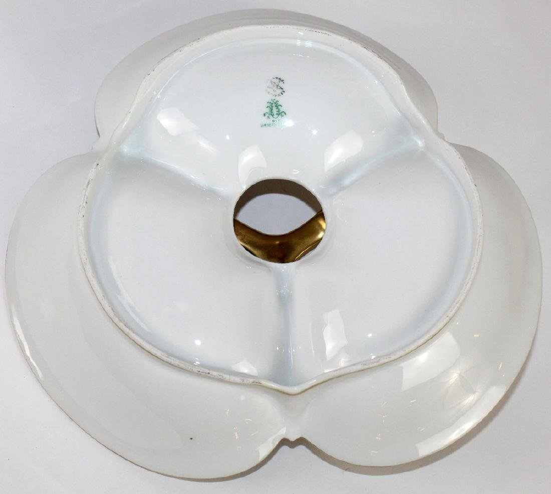 Limoges porcelain divided tray with handle - 3