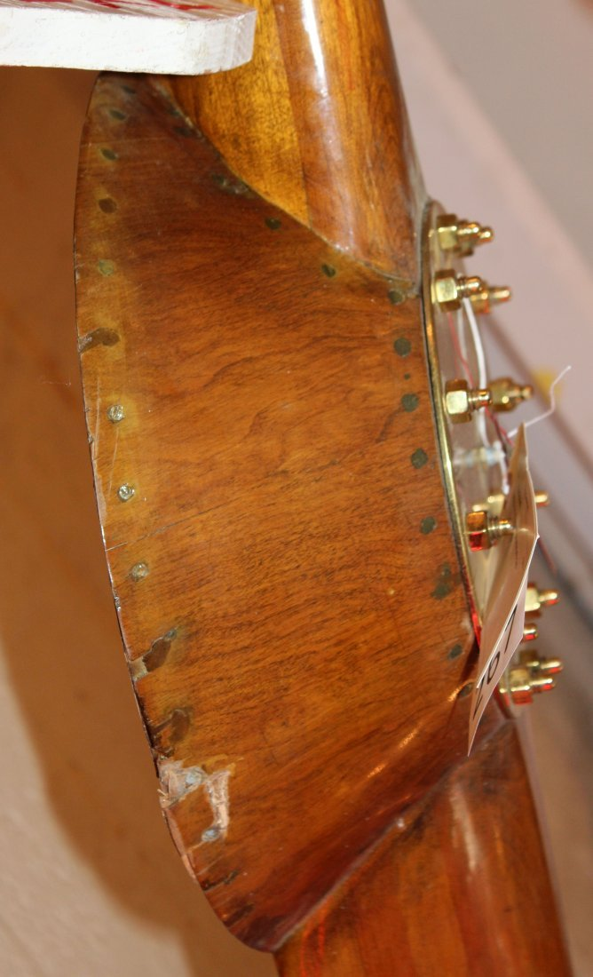 Vintage Hartzell wooden propeller with clock - 8