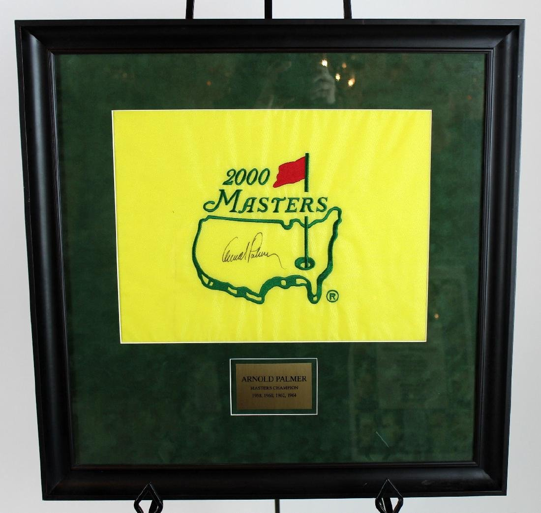 Arnold Palmer signed Masters flag