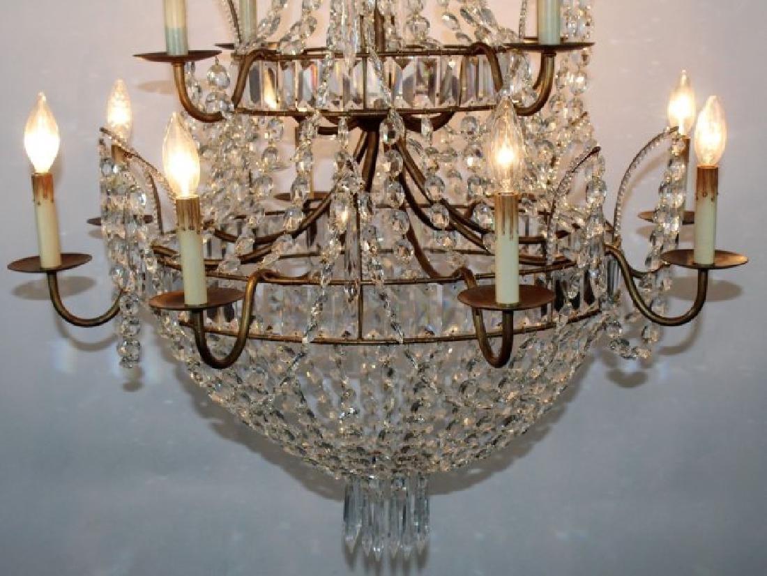 12 light crystal basket chandelier - 2