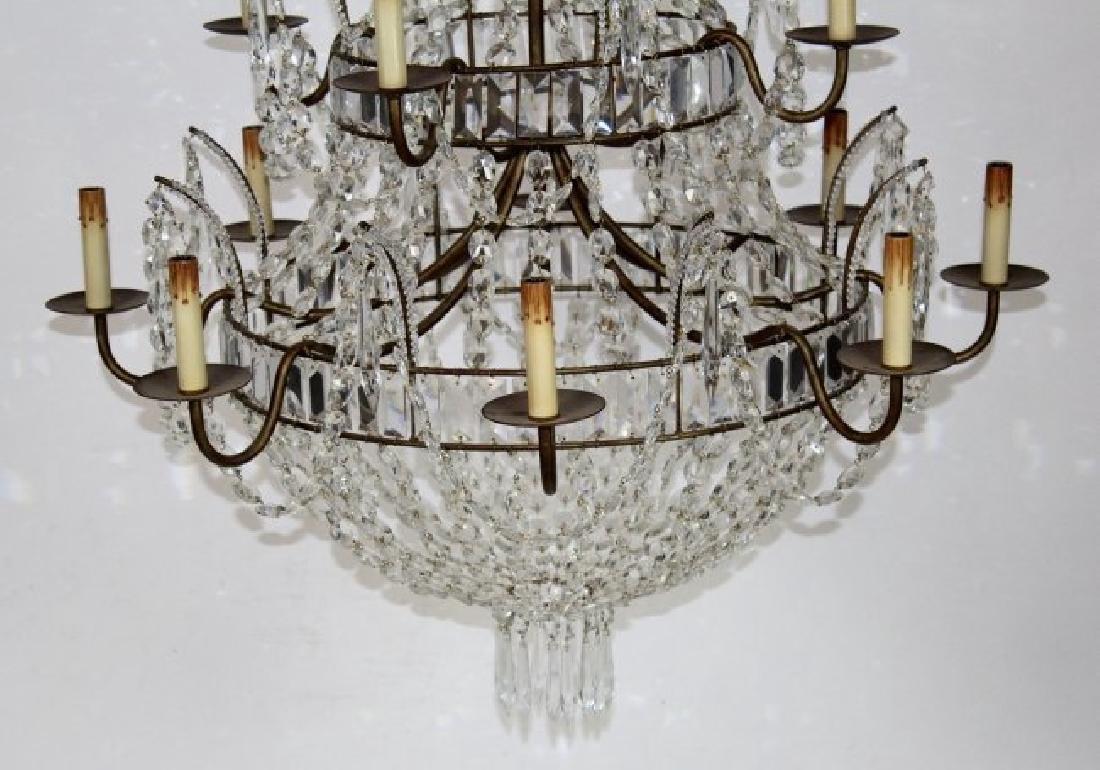 12 light crystal basket chandelier - 4