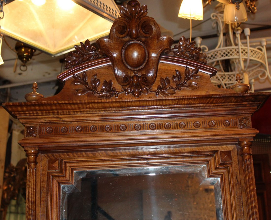 French Louis XVI commode in walnut with mirror - 3