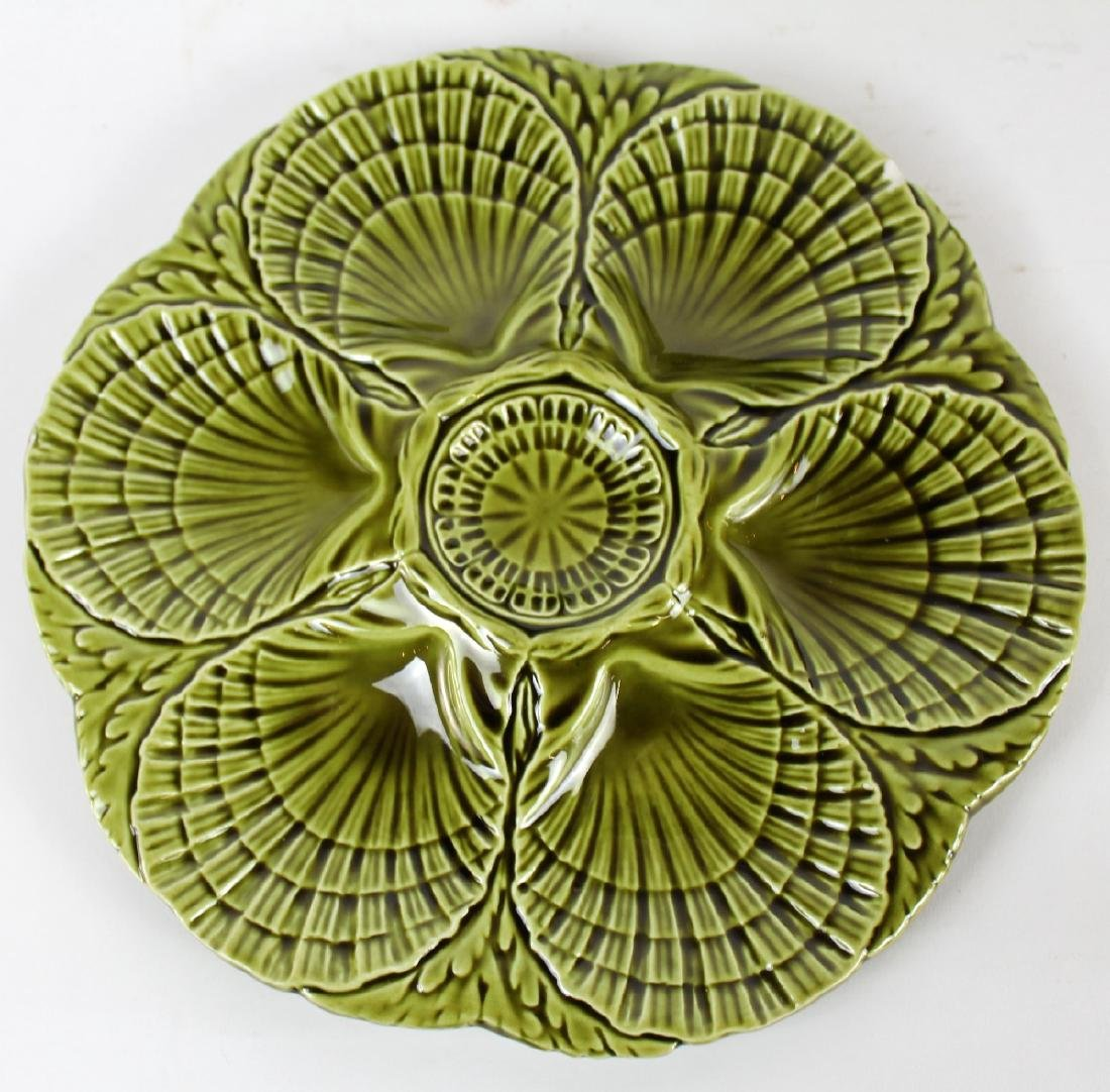 Set of 6 French Sarreguemines oyster plates - 2