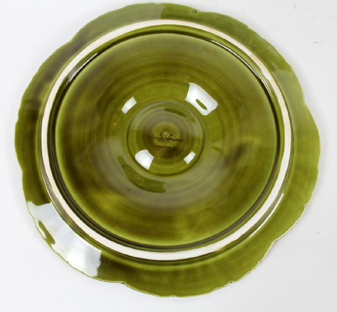 Set of 6 French Sarreguemines oyster plates - 3