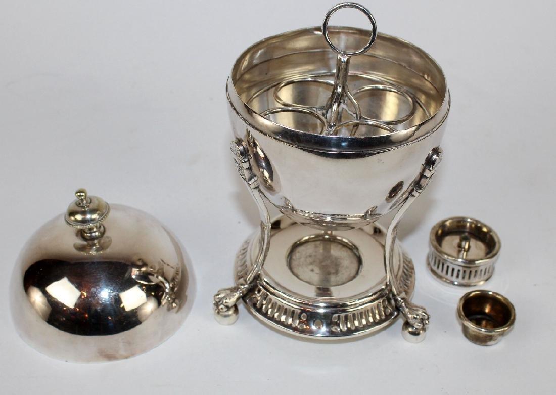 English silverplate egg coddler - 2