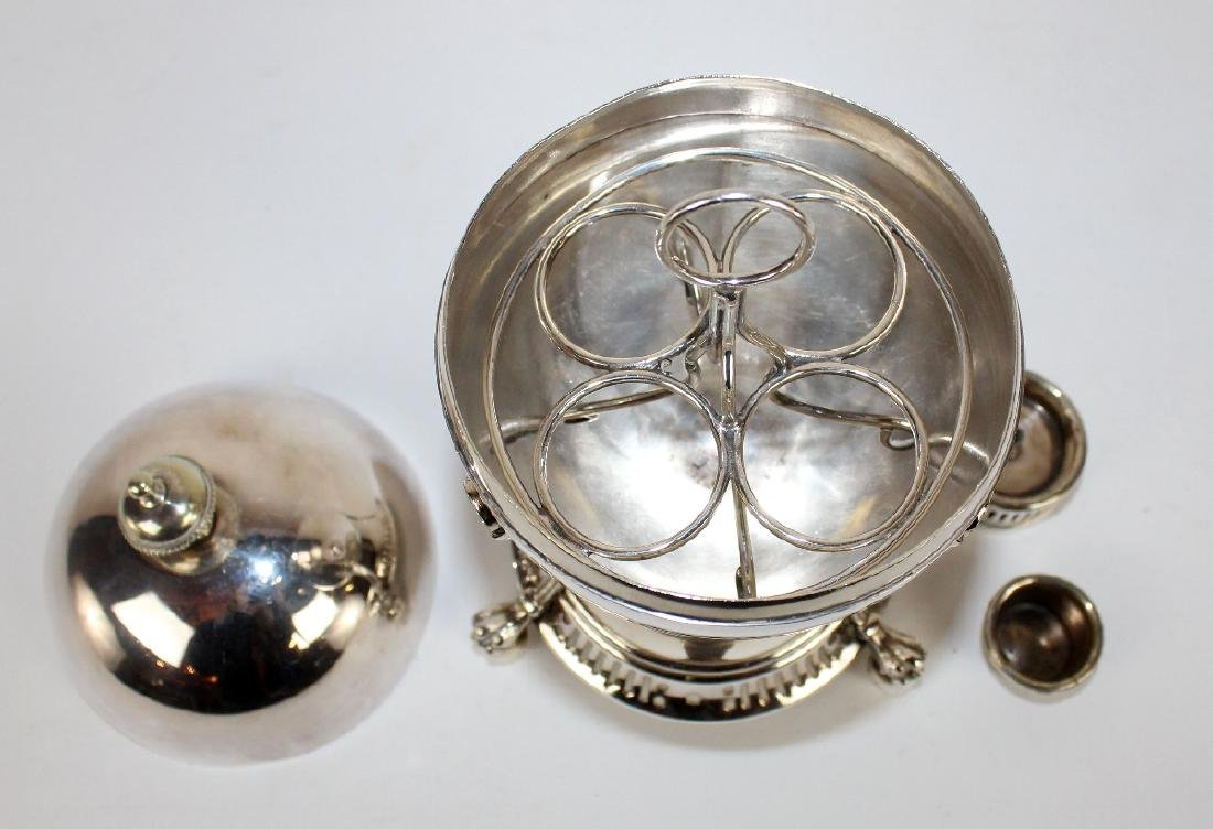 English silverplate egg coddler - 3