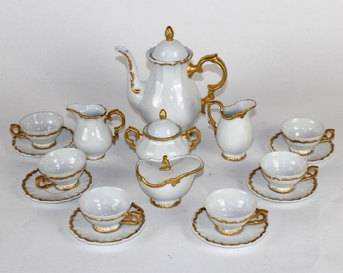 Bavarian porcelain demi-tasse coffee service