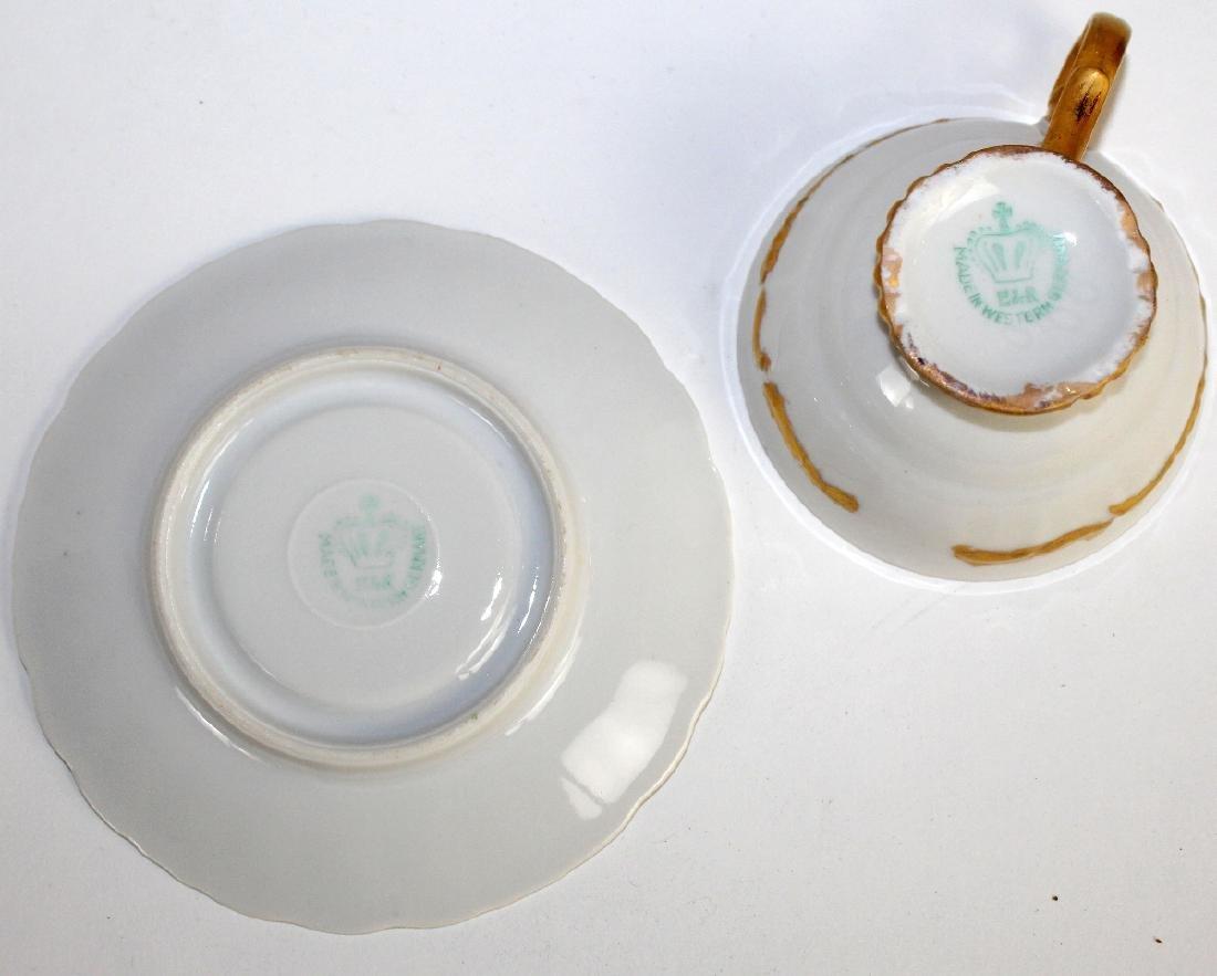Bavarian porcelain demi-tasse coffee service - 3