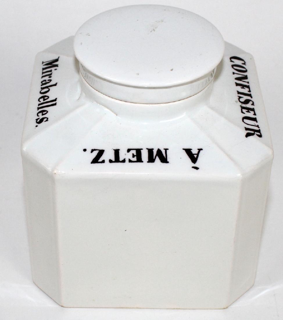 Antique French St Clement porcelain jar