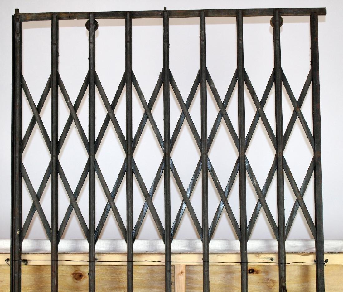 French iron accordion style elevator door - 3